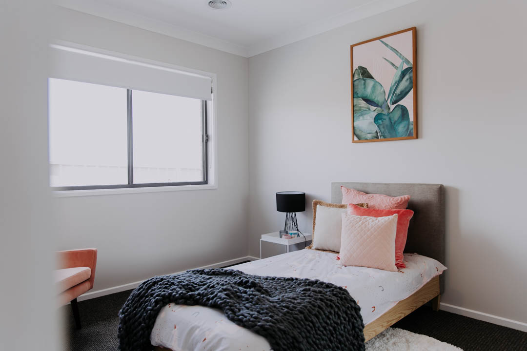 025 Alatalo Bros - bedroom design - guest room - display home - paradoise drive - wagga wagga - pink - interior design - guest room design - home design - builders - house and land - modern home design