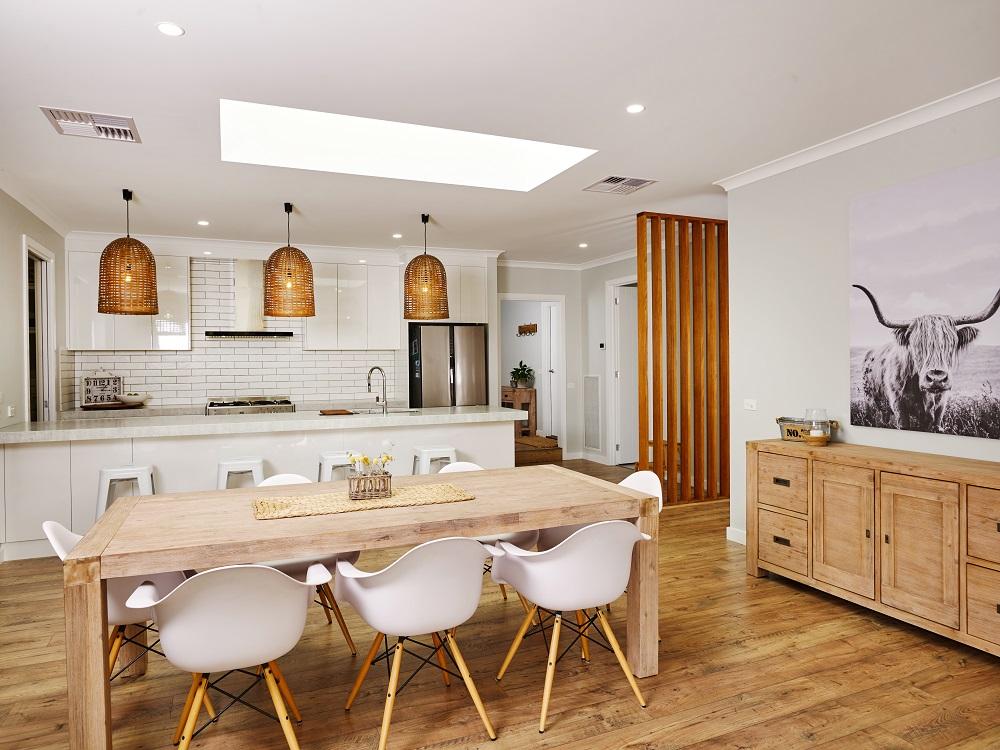 016 Alatalo Bros - new home builders - interiors - home builders - display homes- Albury - Wodonga - Wagga Wagga - interior design - local homes - dining room - custom design - home design - interiors - white kitchen - timber tones