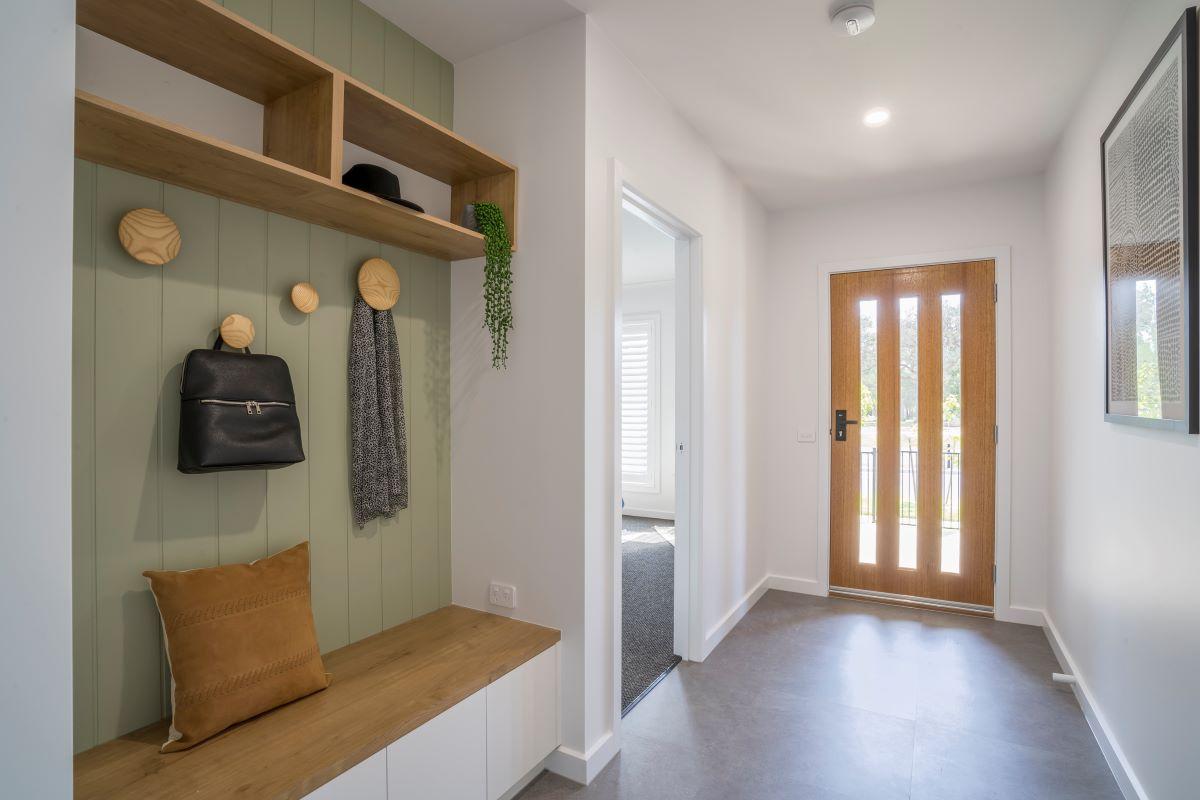 alatalo bros-the rosella- entry- display home-baranduda-avalon park-home design-open home-mudroom design- cabinets
